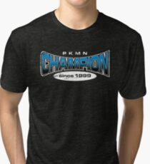 Pokemon Champion_Blue_DarkBG Tri-blend T-Shirt