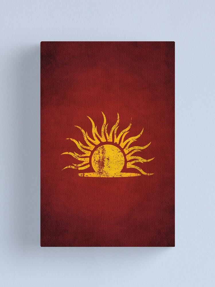 Alternate view of Mythic Dawn Logo · Distressed Canvas Print
