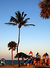 Sunset on the Playground - Fort Lauderdale Florida by Debbie Pinard
