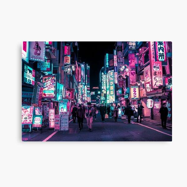 Heart Full Of Neon: Cyberpunk Overload Canvas Print