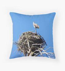 Nesting Osprey Throw Pillow