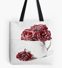 Red roses for a blue lady Tote Bag