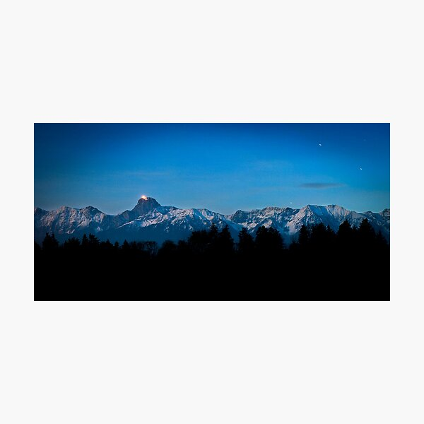 Stars and the Stockhorn Photographic Print