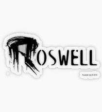 Roswell Abstract Transparent Sticker