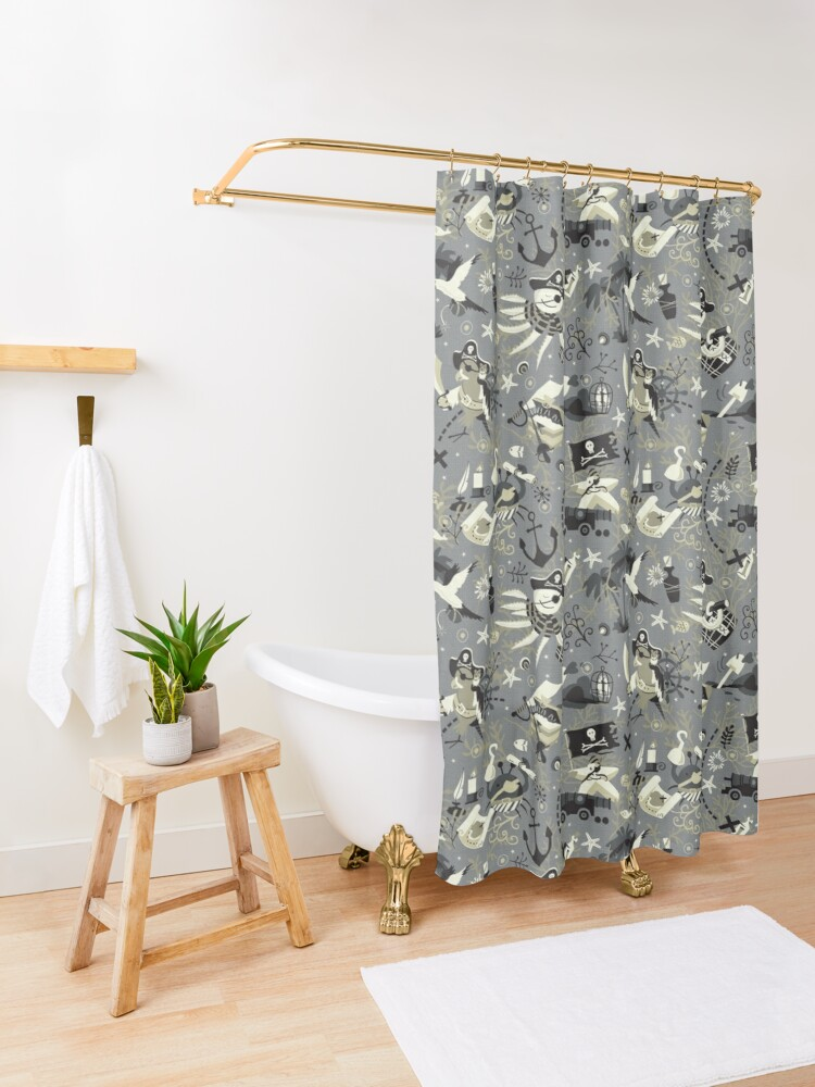 Alternate view of Treasure hunters Shower Curtain