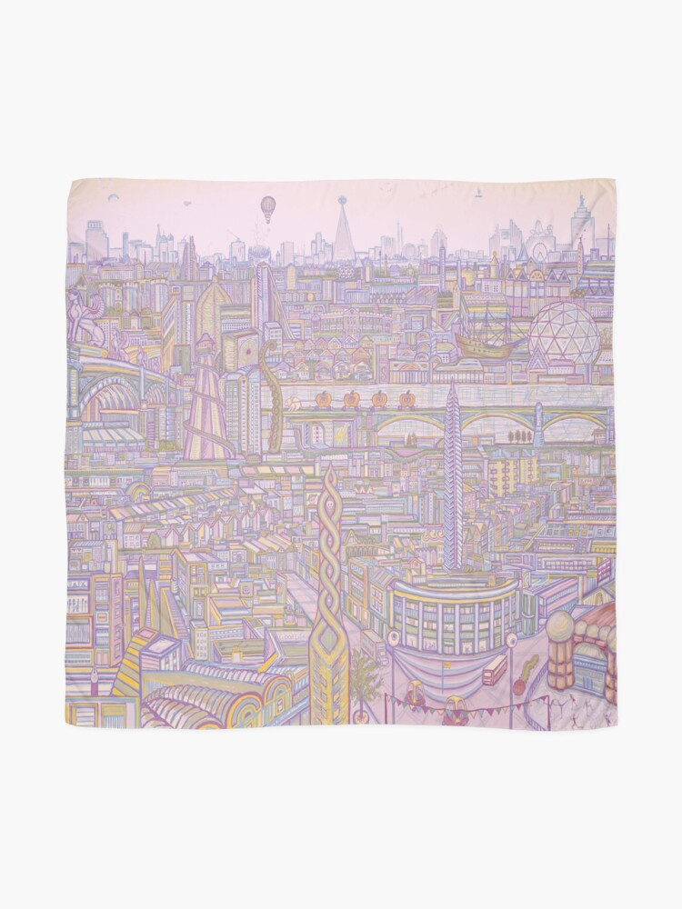 Alternate view of THE MEGATROPOLIS (warm hues) Scarf