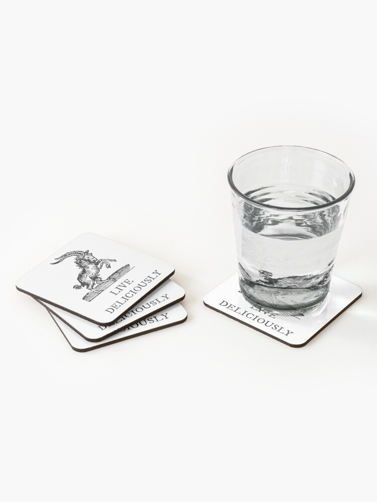 Alternate view of Live Deliciously Coasters (Set of 4)