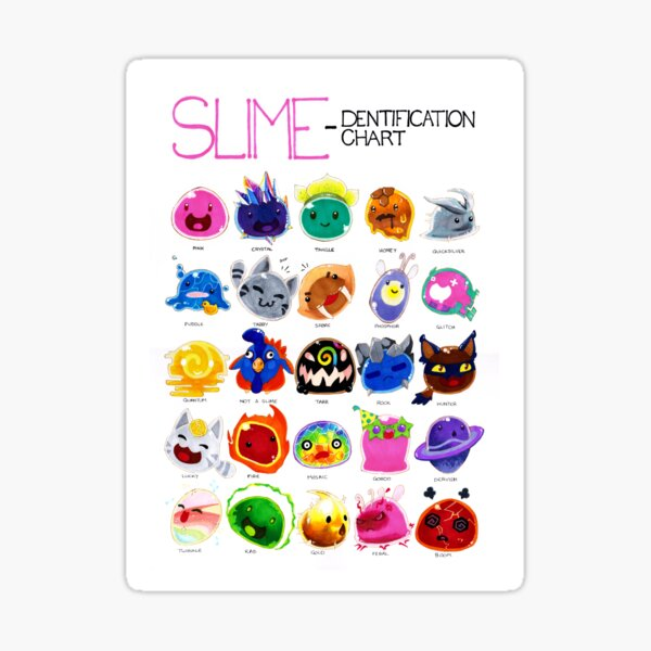 Slime-dentification Chart Sticker