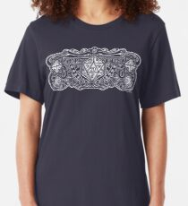 Dice Deco D20 for Dark Items! Slim Fit T-Shirt