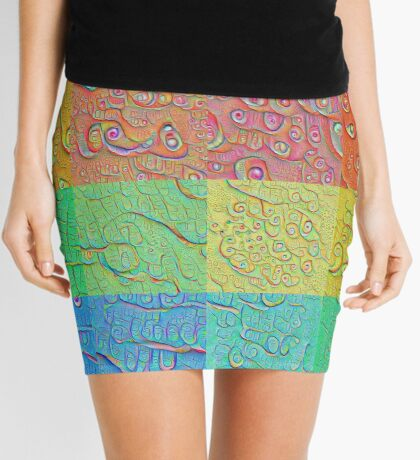 Deep Dreaming of a Color World Mini Skirt