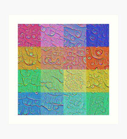 Deep Dreaming of a Color World Art Print