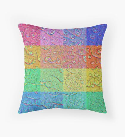 Deep Dreaming of a Color World Floor Pillow
