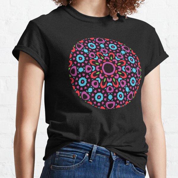 Floral Abstract Multi Colour Mandala 1 Classic T-Shirt