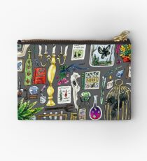 Witch Supplies Watercolor Painting Zipper Pouch