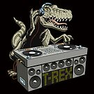 Dinosaur dj with turntable by features2018