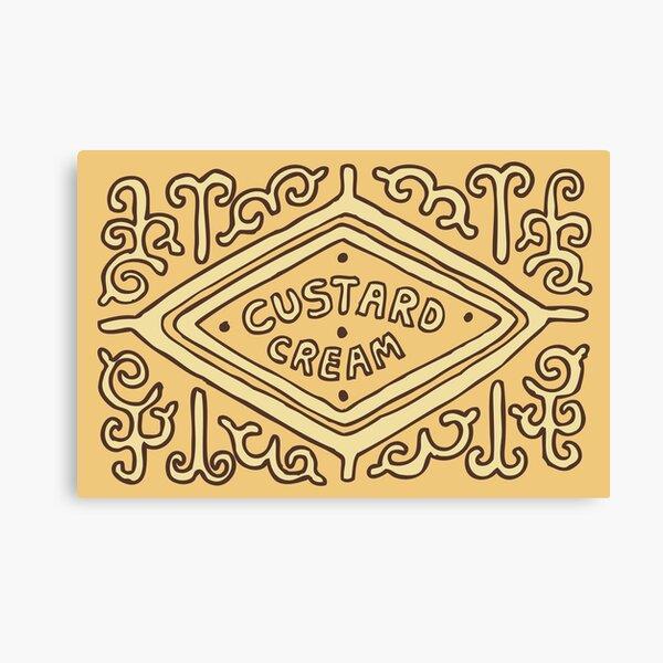 Custard Cream British Biscuit Canvas Print