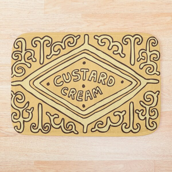 Custard Cream British Biscuit Bath Mat