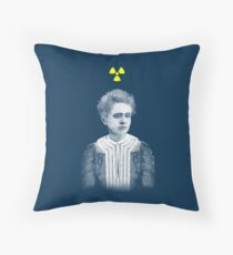 Marie Curie Throw Pillow