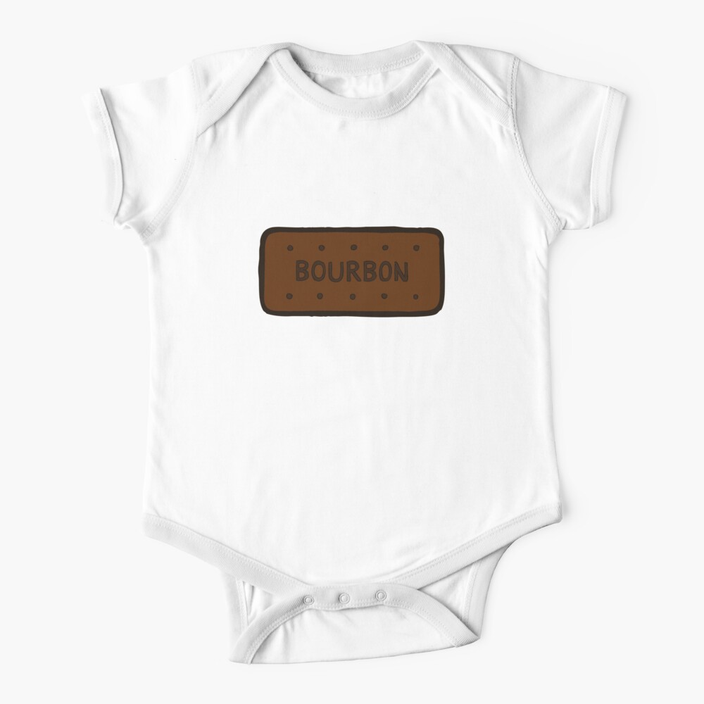 Chocolate Bourbon Biscuit Short Sleeve Baby One-Piece