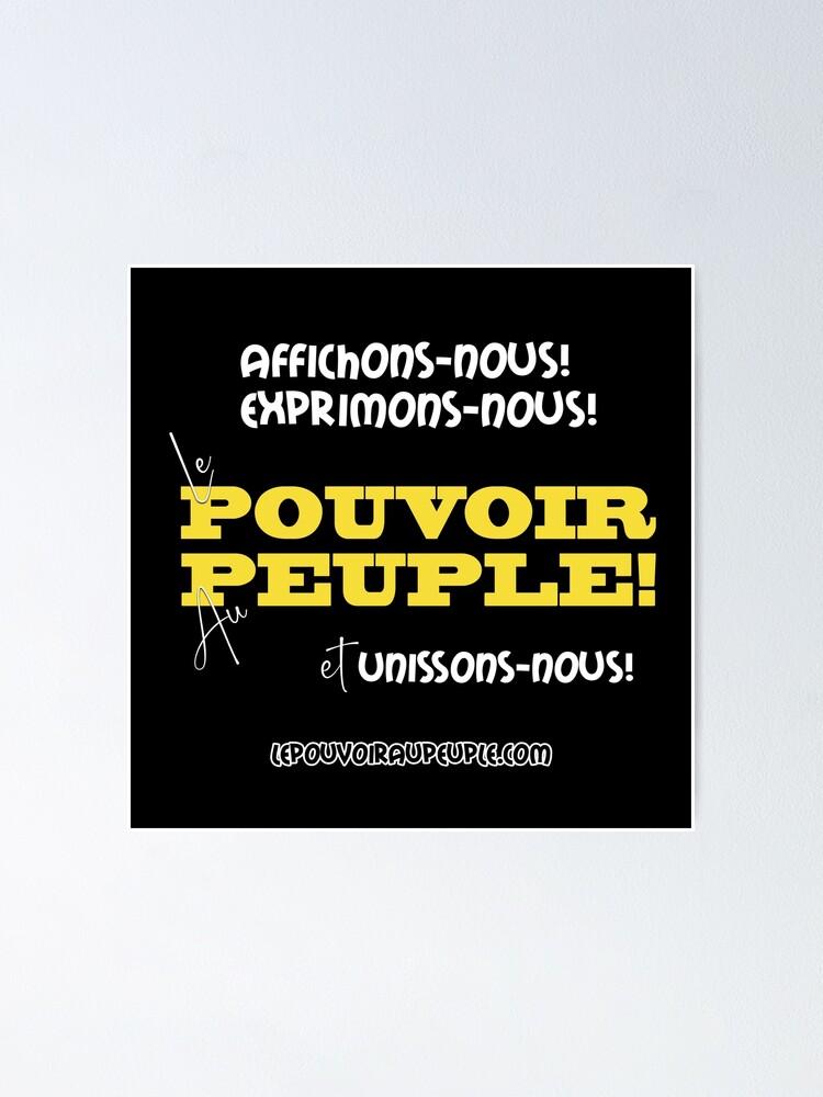 Poster ''LE POUVOIR APPARTIENT AU PEUPLE! (II)': autre vue
