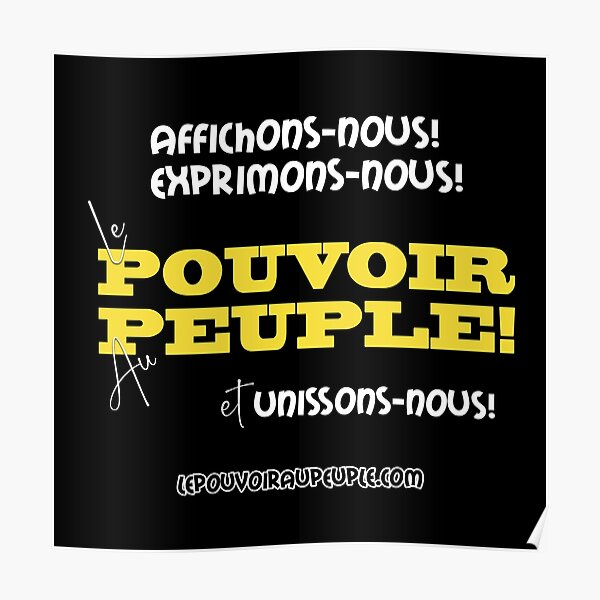 LE POUVOIR APPARTIENT AU PEUPLE! (II) Poster