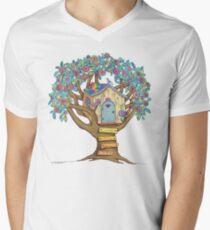 Live Simply, Love Trees Men's V-Neck T-Shirt