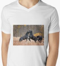 Horsing Around Mens V-Neck T-Shirt
