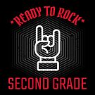 Ready to Rock Second Grade - An Edgy, Cool Graphic Tshirt for Kids by traciwithani