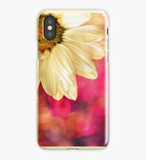 Daisy - Golden on Pink iPhone Case