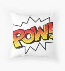 POW! Onomatopoeia Throw Pillow