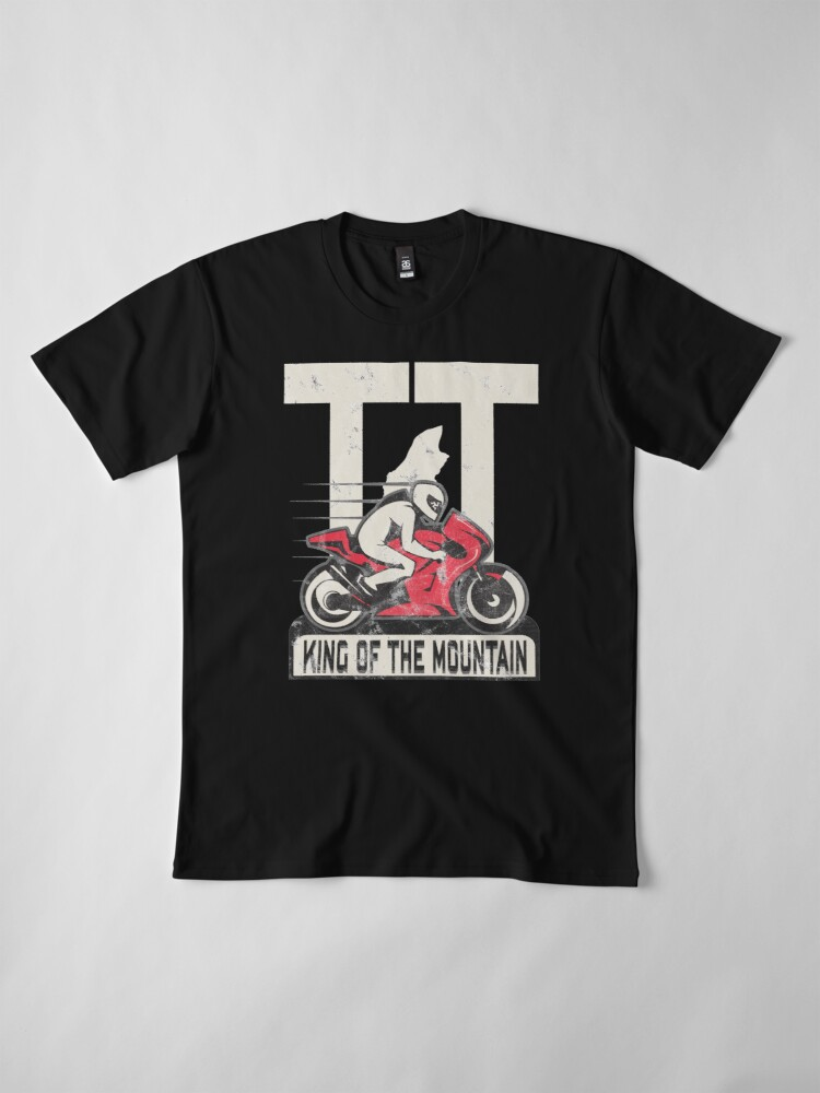 Alternate view of Isle Of Man Manx TT Races King Of The Mountain Tourist Trophy Biker Racing Premium T-Shirt