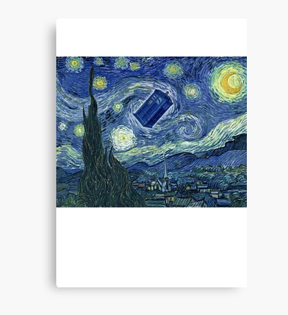 Doctor Who - Starry night Canvas Print