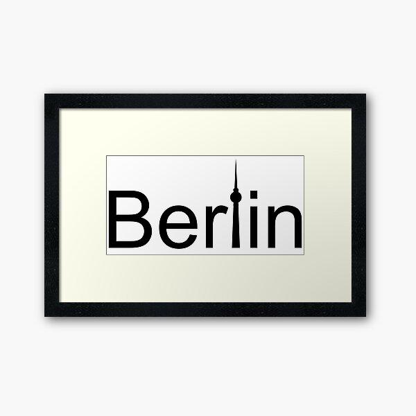 Berlin: Motive with Berliner Fernsehturm Framed Art Print