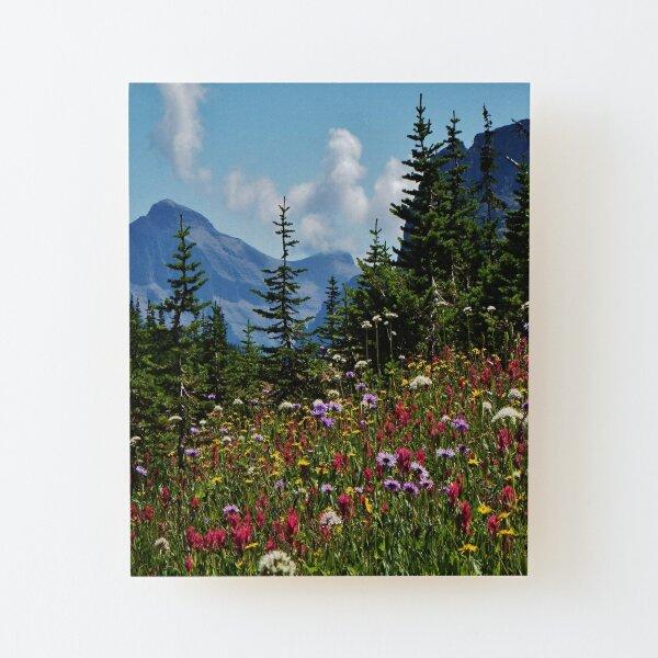 Mountain Wildflowers Wood Mounted Print