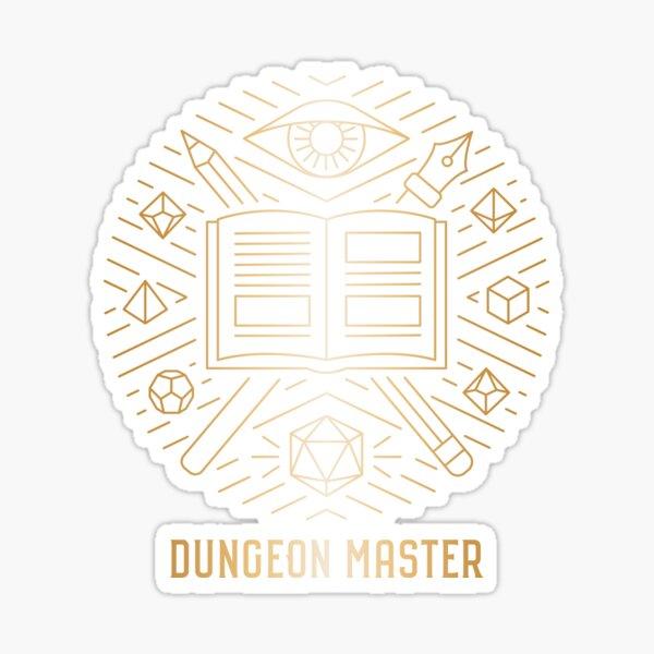 Dungeon Master - Gold  Sticker