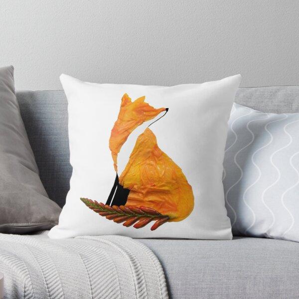 Crocosmia Fox Throw Pillow