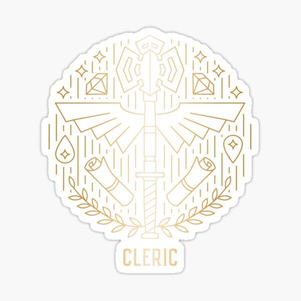 Cleric - Gold Sticker