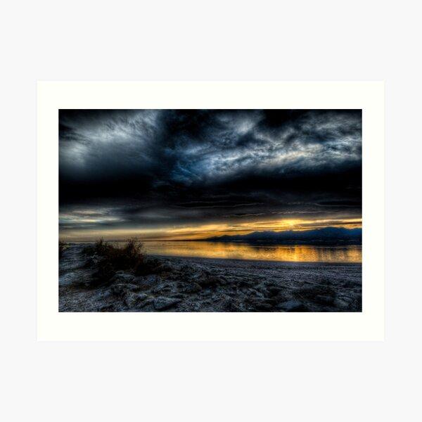 Sunset on the Salton Sea Art Print
