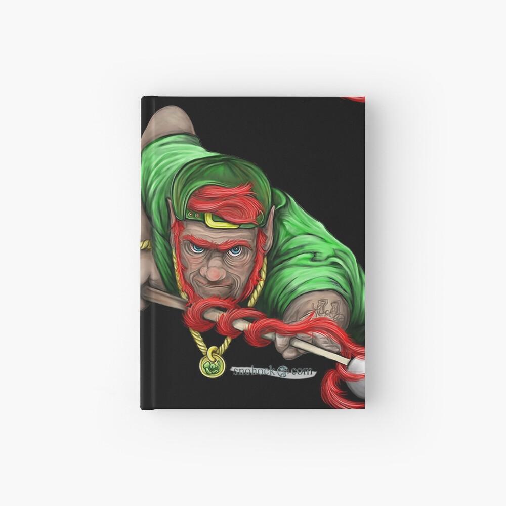 Lucky Leprechaun Shooting Pool Hardcover Journal