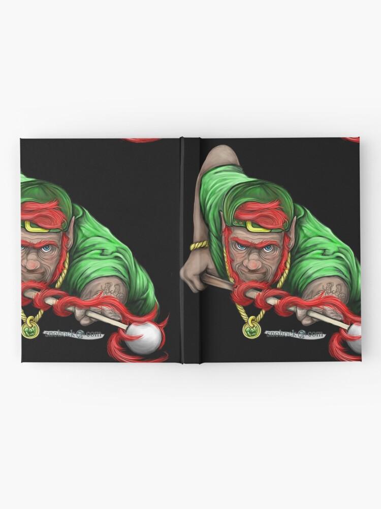 Alternate view of Lucky Leprechaun Shooting Pool Hardcover Journal
