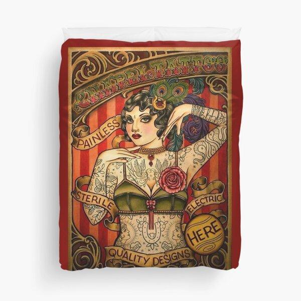 CHAPEL TATTOO; Vintage Body Advertising Art Duvet Cover