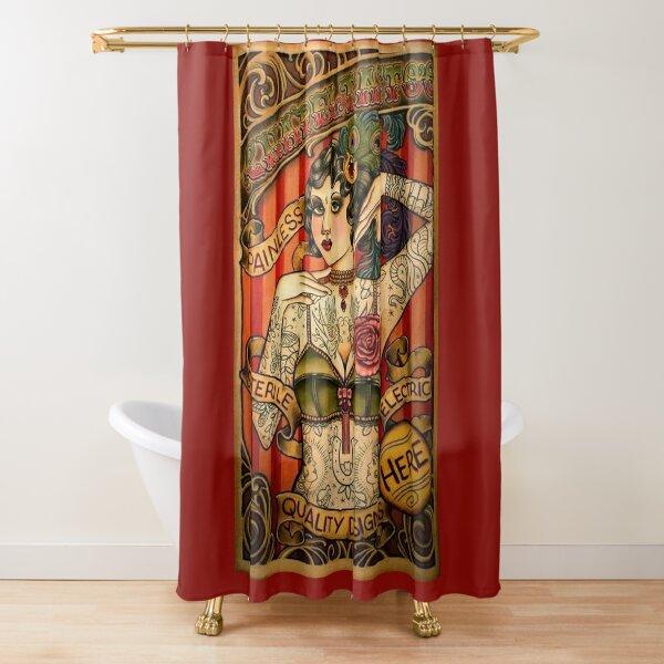 CHAPEL TATTOO; Vintage Body Advertising Art Shower Curtain