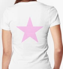 PINK STAR, Star, Pink, Show Girl, Girl Power, Stellar, Red dwarf Women's Fitted V-Neck T-Shirt