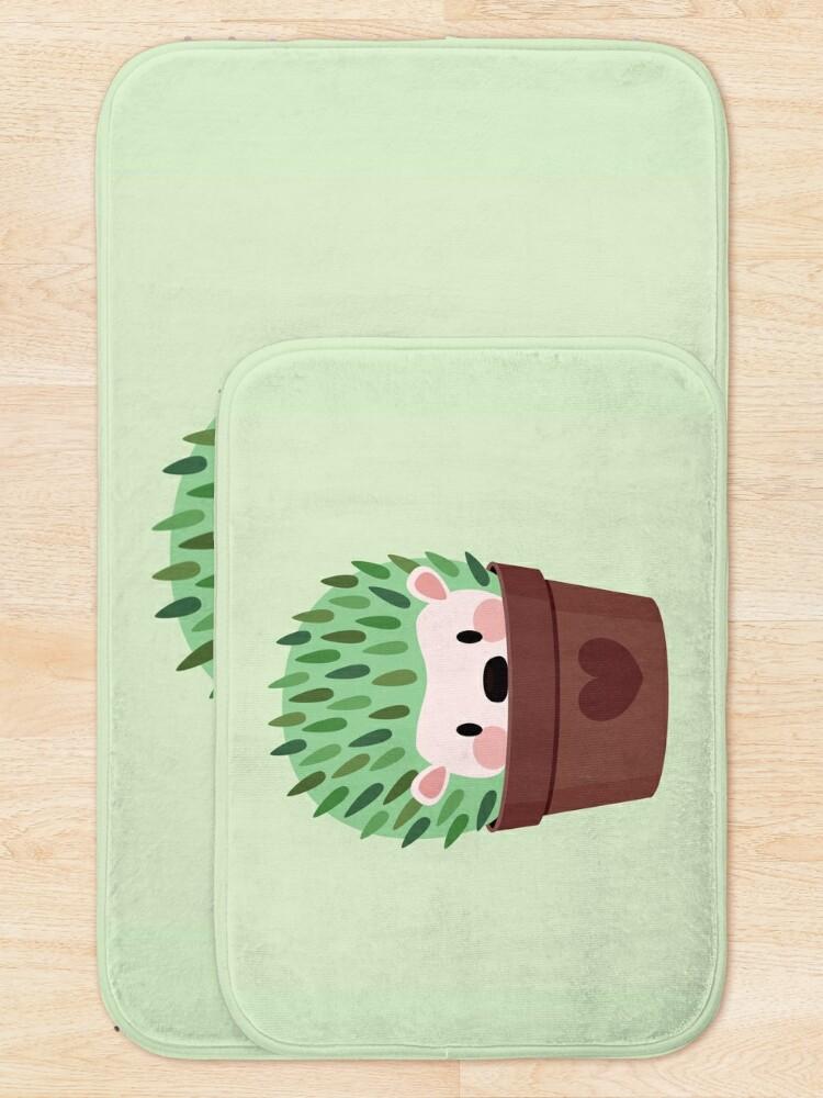 Alternate view of Hedgehogs disguised as cactuses Bath Mat