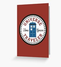 Doctor Who Converse Time Traveller Greeting Card