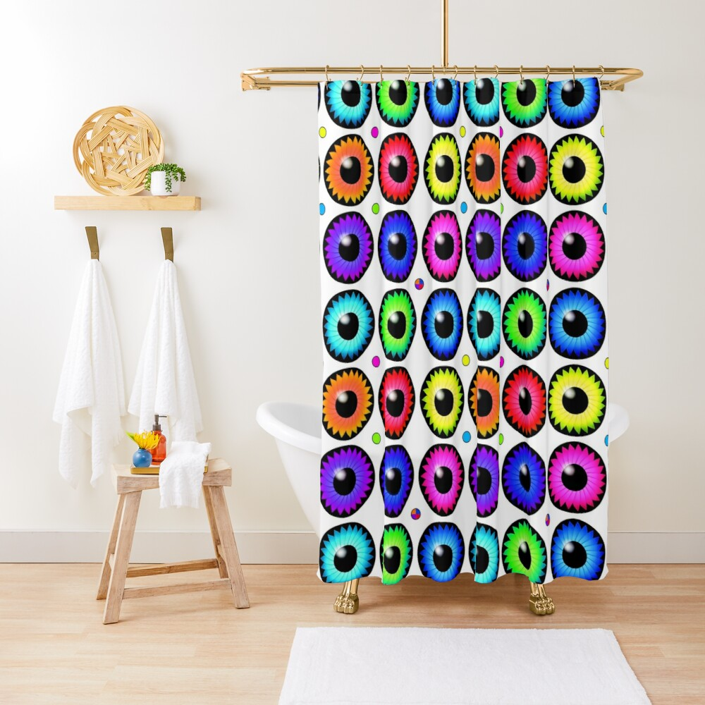 Silly Eyes Shower Curtain