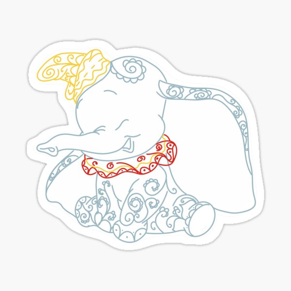 Dumbo Doodles - elefante de circo Pegatina