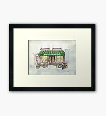 """Simple Pleasures Cafe"" Framed Print"