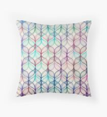Mermaid's Braids - a colored pencil pattern Throw Pillow