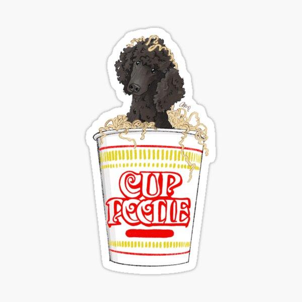 Cup poodle black Sticker